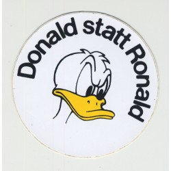 Donald Statt Ronald (Vintage Sticker 1980s) Donald Instead Of Ronald (Reagan)