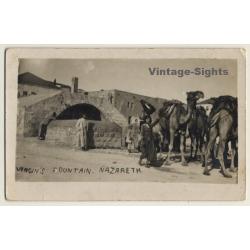 Nazareth / Israel: Virgin's Fountain / Mary's Well (Vintage...