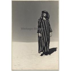 Jerri Bram (1942): Intense Portrait Of Man In Desert /...