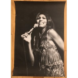 Tina Turner - On Stage Early 1970s (Vintage Poster DIN A1)