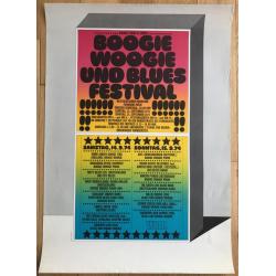Boogie Woogie & Blues Festival / Köln 1974 - CHAMPION JACK DUPREE (Vintage Concert Poster)