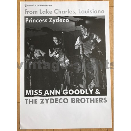 Miss Ann Goodly & The Zydeco Brothers (Vintage Concert Poster)