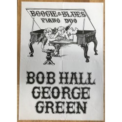 Bob Hall / George Green Boogie & Blues Piano Duo (Vintage Concert Poster)