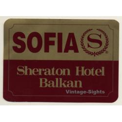 Sofia / Bulgaria: Sheraton Hotel Balkan (Vintage Self Adhesive...