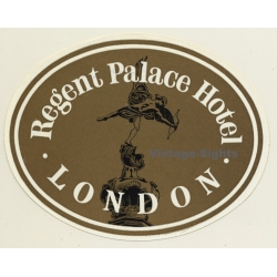 London / UK: Regent Palace Hotel (Vintage Luggage Label)