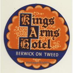 Berwick On Tweed / UK: Kings Arms Hotel (Vintage Luggage Label)