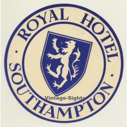 Southampton / UK: Royal Hotel - Lion Coat Of Arms (Vintage...