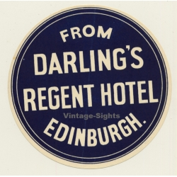 Edinburgh - Scotland / UK: From Darling's Regent Hotel...