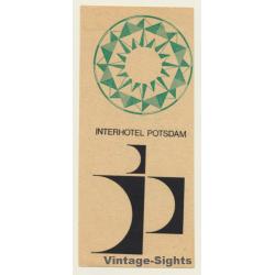 Potsdam / GDR: Interhotel - DDR (Vintage Luggage Label)
