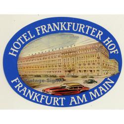 Frankfurt Am Main / Germany: Hotel Frankfurter Hof (Vintage...