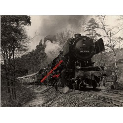 German Steam Train 050-913-3 In Black Forest (Vintage Photo)