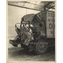 Cabine De Camion Détruite / Récupérer De Verre? (Large Vintage...