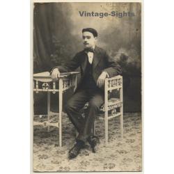 Young Elegant Spanish Man / Furniture - Suit - Design (Vintage...