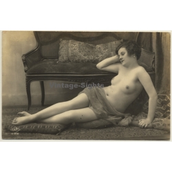 S.A.P.I. 2066: Lying French Nude / Interior - Boudoir (Vintage...