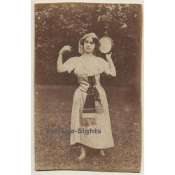 Slim Brunette W. Tambourin / Traditional Costume (Vintage...