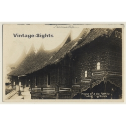Sumatra / Indonesia: House Of A Big Family Padang Highlands...