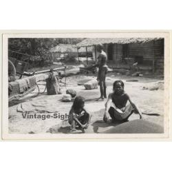 Sumatra / Indonesia: Indigenous People In Village / Ethnic...