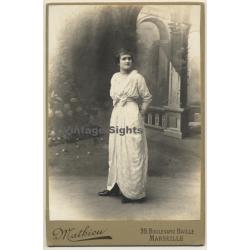 Mathieu / Marseille: Elegant Woman In Victorian Dress (Vintage...