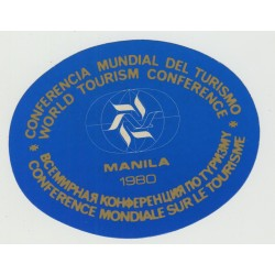 World Tourism Concerence 1980 - Manila / Philipinnes (Vintage Luggage Label)