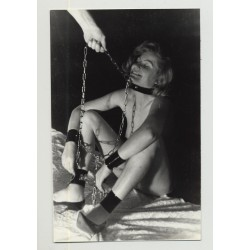 Nude Female Slave In Chains 3 / BDSM - Collar - Happy (Vintage Amateur Photo 1960s)