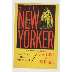 Hotel New Yorker - New York / USA (Vintage Luggage Label)