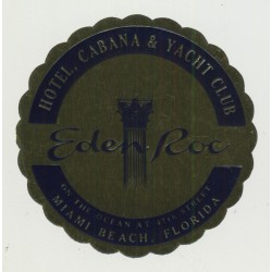 Eden Roc Hotel, Cabana & Yacht Club - Miami / USA (Vintage Luggage Label)
