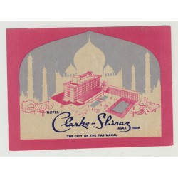 Hotel Clarks-Shiraz - Agra / India (Vintage Lauggage Label)