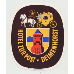 Hotel Zur Post - Delmenhorst / Germany (Vintage Luggage Label)