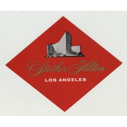 Statler Hilton Hotel Los Angeles (Vintage Luggage Label)
