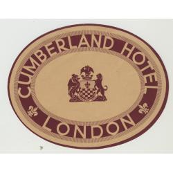 Cumberland Hotel - London / U.K.