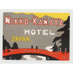 Nikko-Kanaya Hotel / Japan (Vintage Luggage Label)
