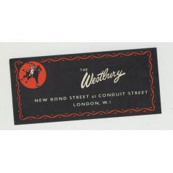 The Westbury (New Bond Street) - London / U.K. (Vintage Luggage Label)