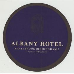 Albany Hotel - Birmingham / U.K. (Vintage Luggage Label)
