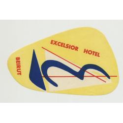 Excelsior Hotel - Beirut / Lebanon (Vintage Luggage Label)