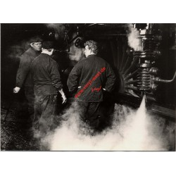 German Steam Train Workers At Work 1960s