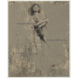 Klaus Böttger: Erotic Nude Study (Original Etching - Lim.Ed. No.750/2000 - ≈ 1980 - handsigned