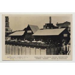 Exposicion Internacional De Barcelona / Cerveceria Oberbayern (Vintage PC: 1929)