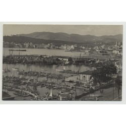 07001 View Over Port Of Palma de Mallorca - Baleares / Spain (Vintage PC 1920s/1930s)