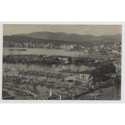 07001 View Over Port Of Palma de Mallorca - Baleares / Spain (Vintage PC 1920s/1930s)