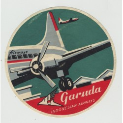 Garuda Indonesian Airways (Vintage Luggage Label)
