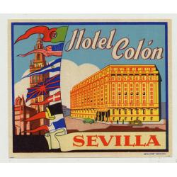 Hotel Colón - Sevilla / Spain (Vintage Luggage Label)
