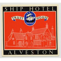 Ship Hotel (Trust House) - Alveston / Great Britain (Vintage Luggage Label 1950s)