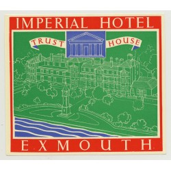 Imperial Hotel (Trust House) - Exmouth / Great Britain (Vintage Luggage Label 1950s)