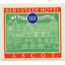 Berystede Hotel (Trust House) - Ascot / Great Britain (Vintage Luggage Label 1950s)