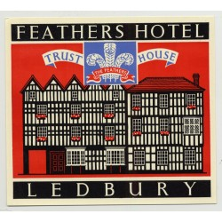 Feathers Hotel (Trust House) - Chester / Great Britain (Vintage Luggage Label 1950s)