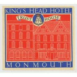 King's Head Hotel (Trust House) - Monmouth / Great Britain (Vintage Luggage Label 1950s)