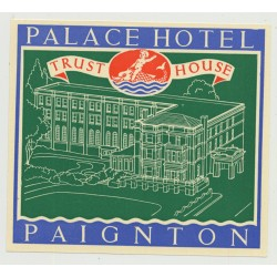 Royal Hotel (Trust House) - Llangollen / Great Britain (Vintage Luggage Label 1950s)