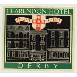 Clarendon Hotel (Trust House) - Derby / Great Britain (Vintage Luggage Label 1950s)