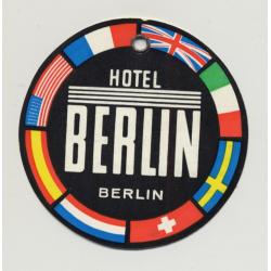 Hotel Berlin - Berlin / Germany (Vintage Luggage Tag)