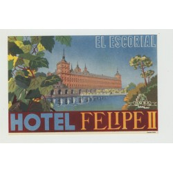 Hotel Felipe II - El Escorial / Spain (Luggage Label)